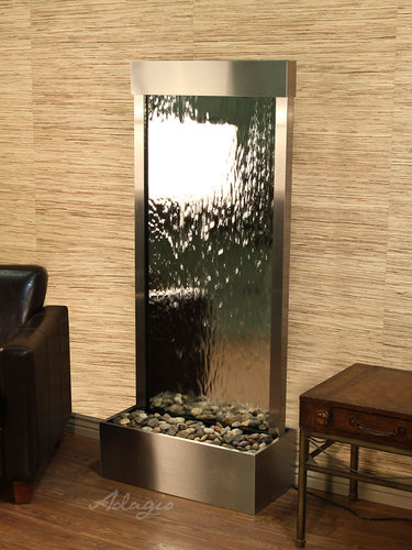 The Harmony River Mirrored Glass Floor Fountain - Earth Inspired Products