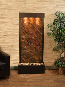 The Harmony River Travertine Floor Fountain - Earth Inspired Products