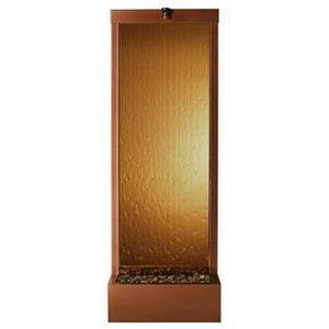 4' Gardenfall Bronze Mirror Dark Copper Floor Fountain - Earth Inspired Products