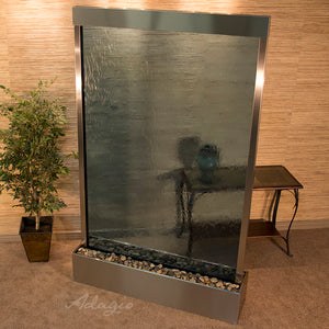 The Mega Grandeur River Mirrored Glass Floor Fountain - Earth Inspired Products