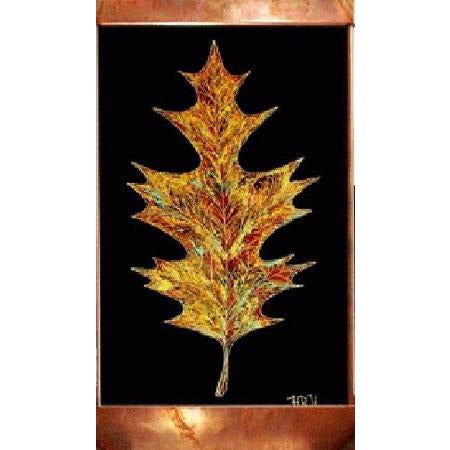 Oak Leaf Painted Wall Fountain - Earth Inspired Products