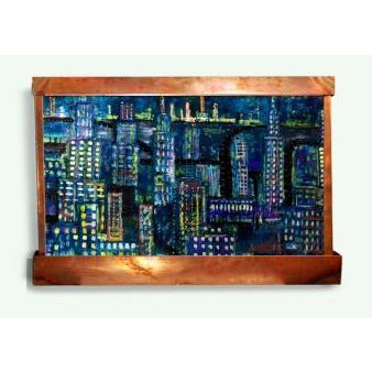 Rainy Night Horizontal Painted Wall Fountain - Earth Inspired Products