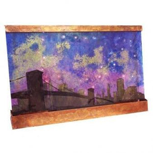 San Francisco Night Painted Wall Fountain - Earth Inspired Products