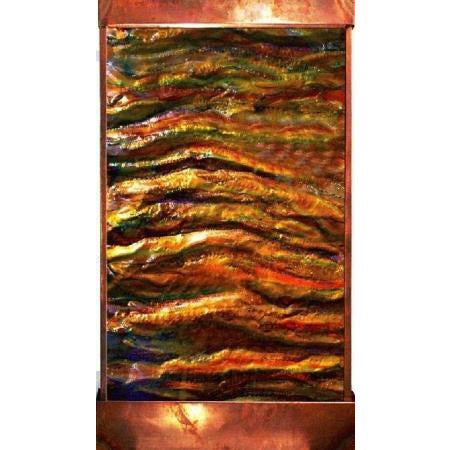 Sky's On Fire Vertical Painted Wall Fountain - Earth Inspired Products