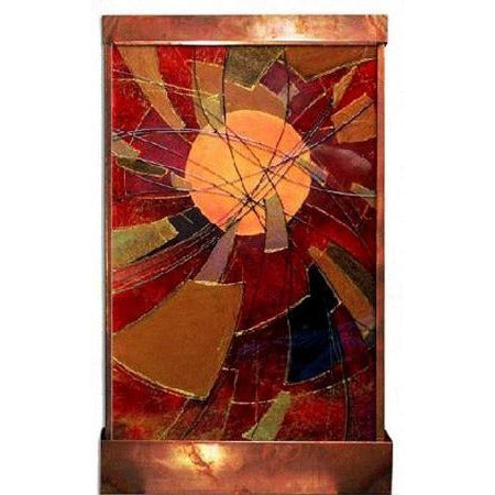 Spirals of the Sun Painted Wall Fountain - Earth Inspired Products