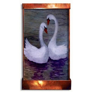 Swan Lake Painted Wall Fountain - Earth Inspired Products