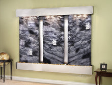 The Deep Creek Falls Slate Wall Water Feature - Earth Inspired Products