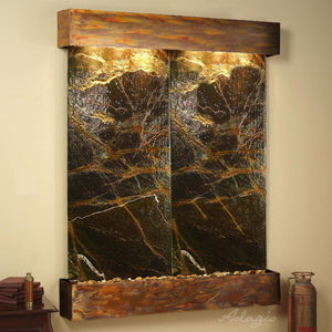 The Majestic River Travertine Wall Fountain - Earth Inspired Products