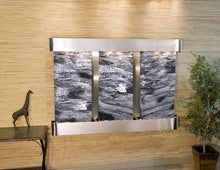 The Olympus Falls Travertine Wall Fountain - Earth Inspired Products