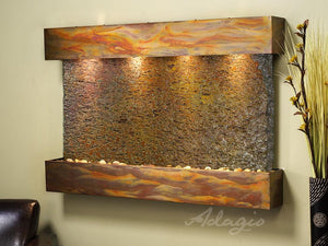 The Sunrise Springs Slate Wall Water Fountain - Earth Inspired Products