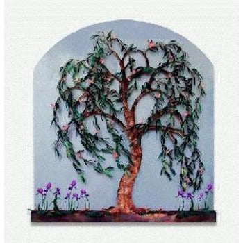 Willow Tree Painted Wall Fountain - Earth Inspired Products
