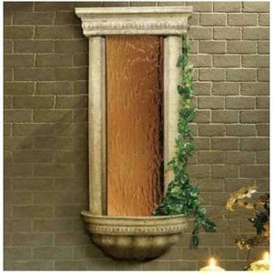 Bellezza Bronze Mirror & Ancient Stone Wall Fountain - Earth Inspired Products