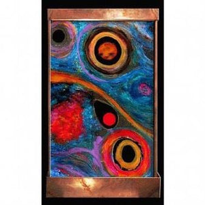 Eyes in the Sky Painted Wall Fountain - Earth Inspired Products