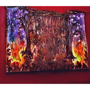 Fire & Rain Painted Wall Fountain - Earth Inspired Products
