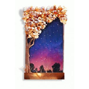 Galaxy Tree Horizontal Painted Wall Fountain - Earth Inspired Products