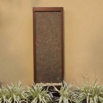 8' Gardenfall Slate Copper Vein Floor Fountain - Earth Inspired Products