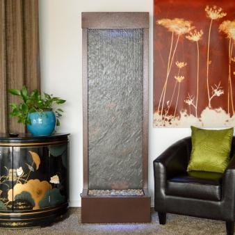 6' Gardenfall Slate Copper Vein Floor Floor Fountain - Earth Inspired Products