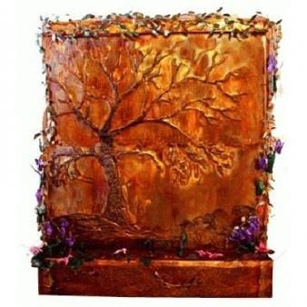 Golden Oak Painted Wall Fountain - Earth Inspired Products