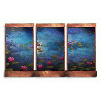 Giverny Triple Paneled Painted Wall Fountain - Earth Inspired Products