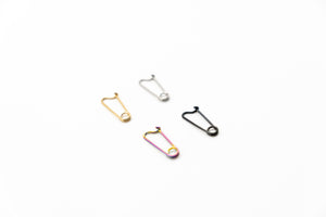 Small Safety Pin Earrings (Set of 4)