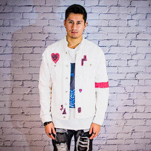 Acid Trip White denim jacket