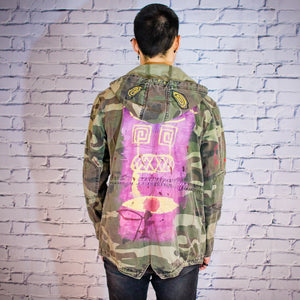 Military Blood Camo Short Parka