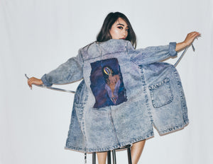 Salvaged Denim Painted Kimono