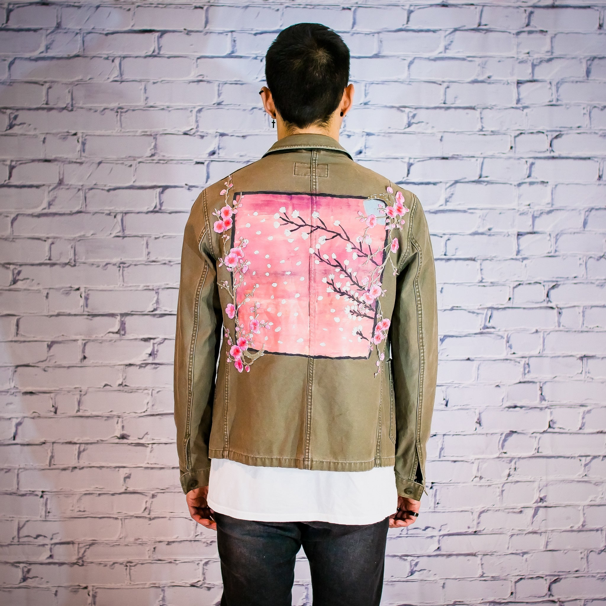 Allsaints Cherry blossom coach work jacket