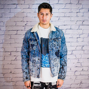 Twisted Heart Sherpa Denim Jacket