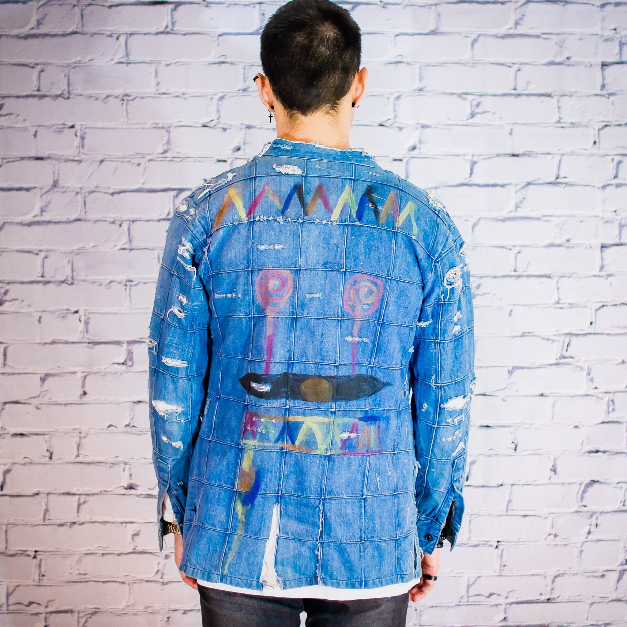 Patchwork denim jacket