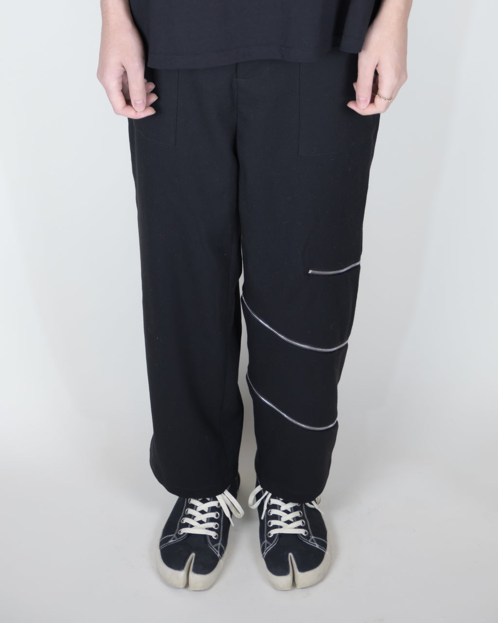 Unnecessary Zipper High Waisted Cropped Trousers