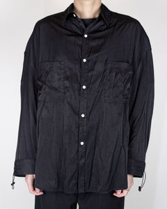 Unnecessary Silky Rayon polyester Double pleated Pocket Shirt