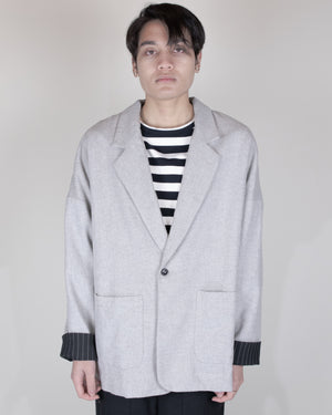 Unnecessary Oversized Wool Blended Jacket