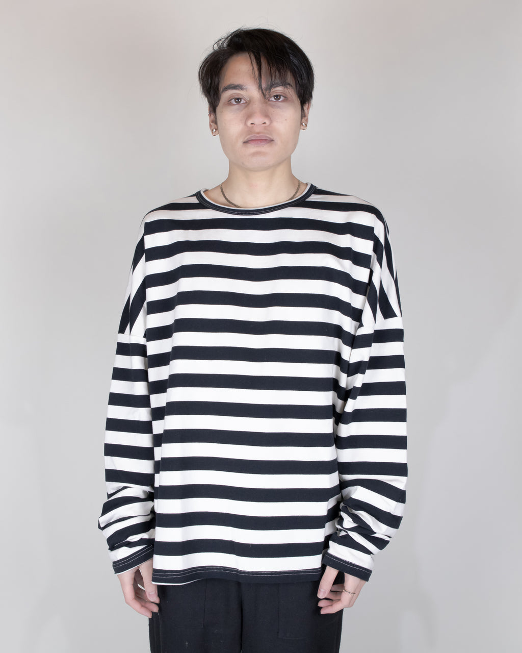 Unnecessary Oversized Multipanel Drop Shoulder Long Sleeve Shirt