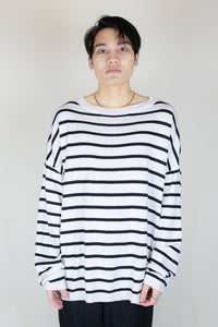 Unnecessary Oversized Cashmere Cotton blended Knitted Crew Neck Sweater