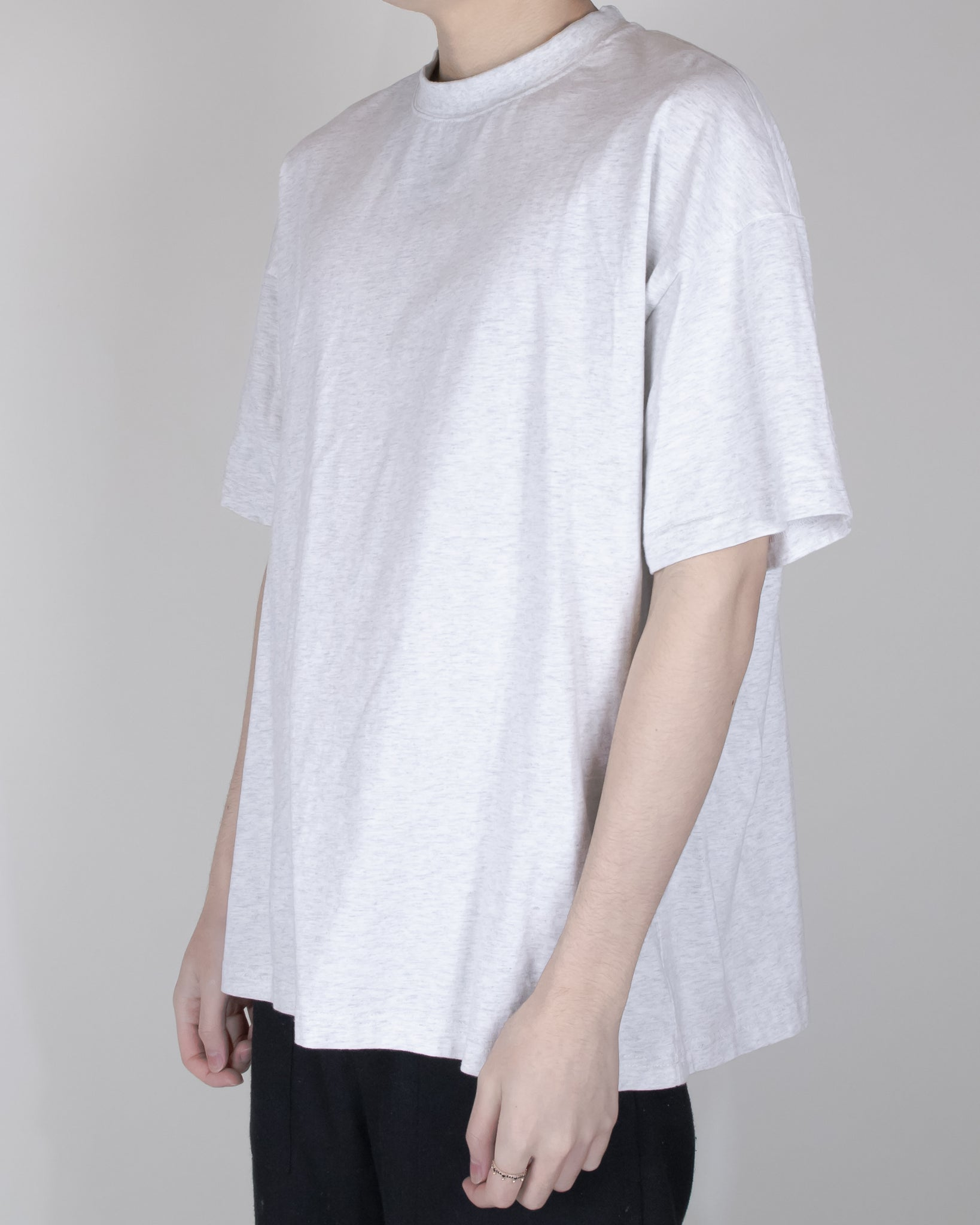 Unnecessary Brushed Cotton Crew Neck Multi Panel T-Shirt