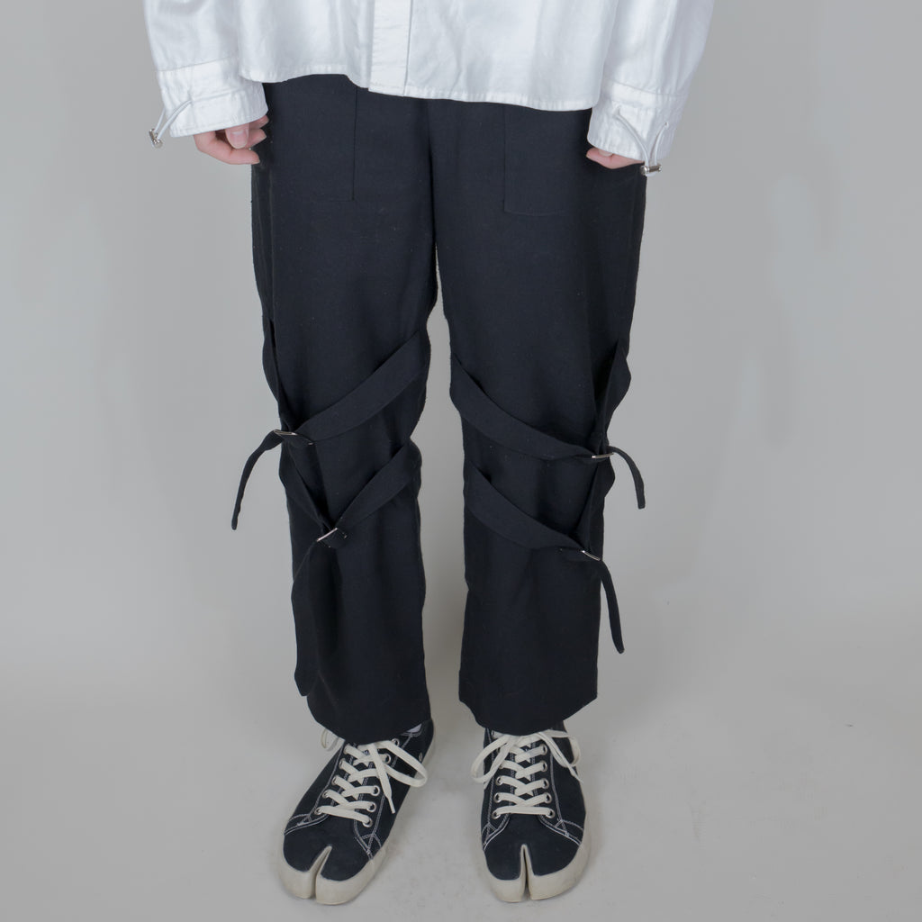 Unnecessary Wool Blended Twill Belted Trousers