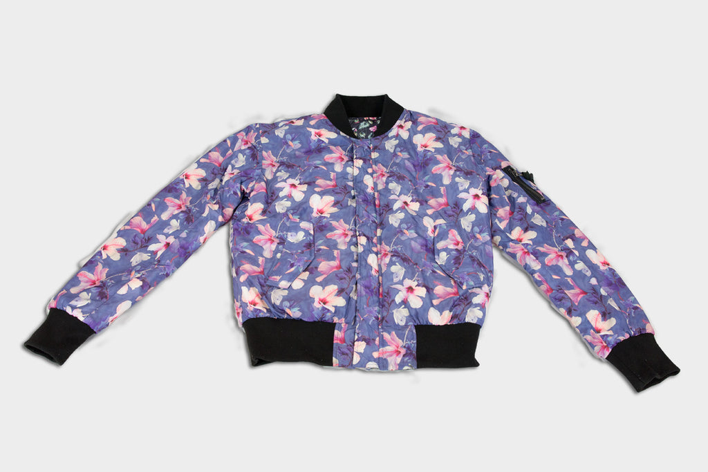 Reversible Bomber Jacket Floral Prints