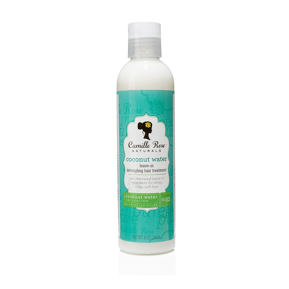 Lightweight leave-in conditioner infused with coconut.  Leaves hair soft and shiny