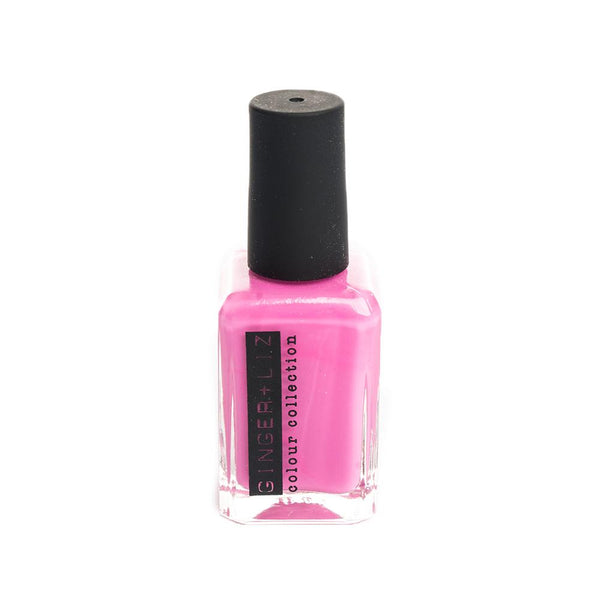 Ginger and Liz Bubble gum pink vegan cruelty free nail polish. 5 free