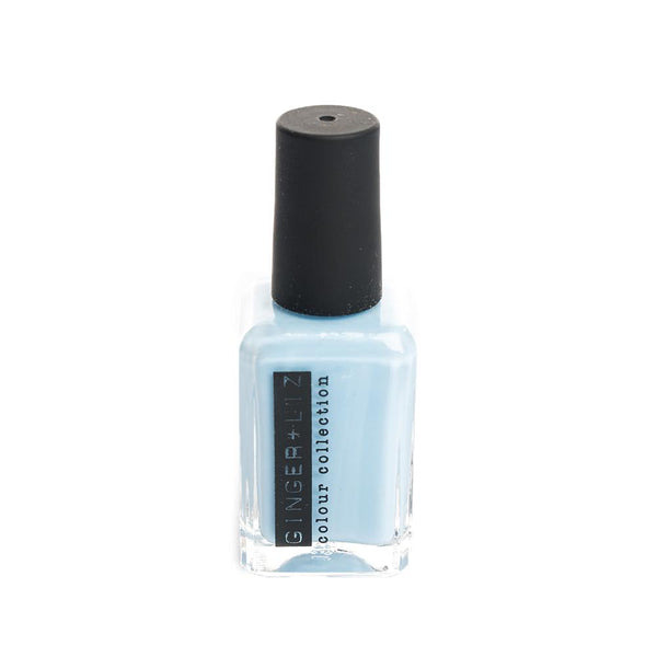 Ginger and Liz baby blue vegan cruelty free nail polish. 5 free