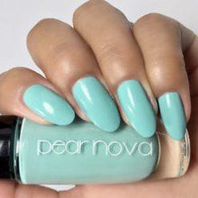 Pear Nova turquoise vegan and cruelty free nail polish. 5 free