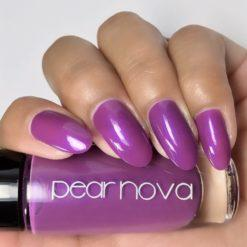 Pear Nova's grape with a hint of blue shimmer vegan and cruelty free nail polish. 5 free