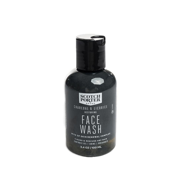 Vegan men's face wash contains a botanical enriched formula that controls oil and shine, minimizing the chance of breakouts.