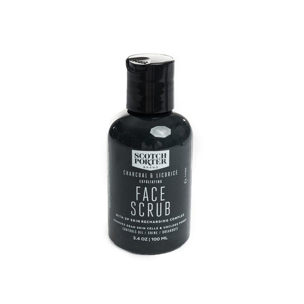 Charcoal infused face scrub removes dead skin cells, unclogs pores and stimulates blood flow.