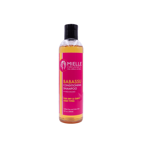 Gentle cleansing shampoo for curly hair types that contains moisturizing oils to soften and strengthen hair.