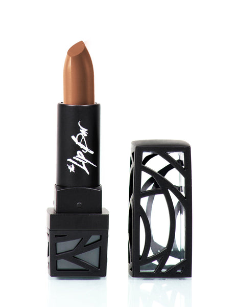 Soft brown moisturizing lipstick.  Vegan and cruelty free.
