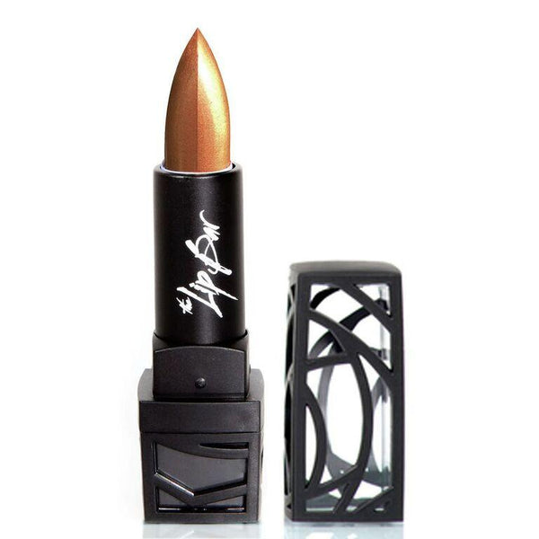 Gold moisturizing lipstick.  vegan and cruelty free