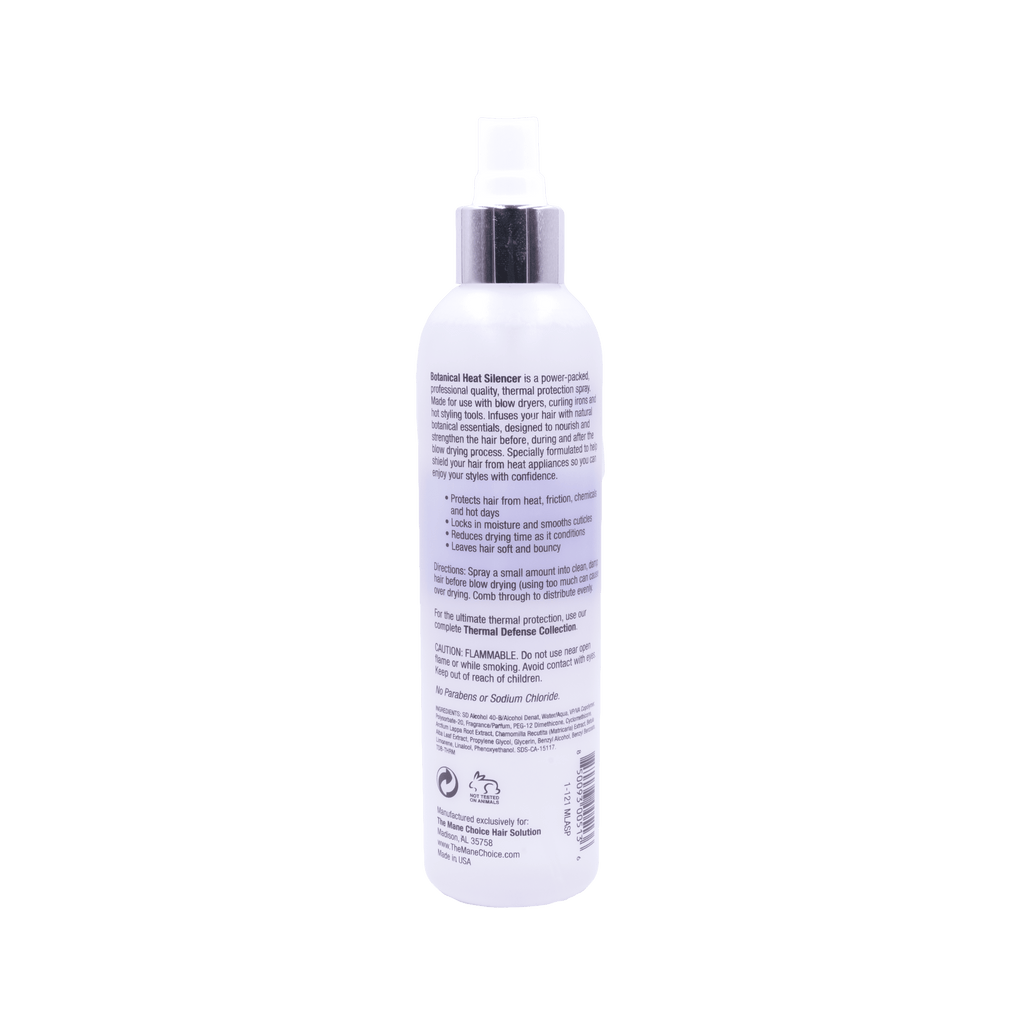 Heat protectant designed to protect and strengthen the hair from heat appliances.