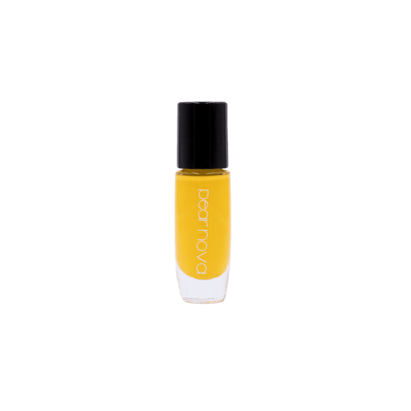 bright yellow vegan and cruelty free nail polish. 5 free